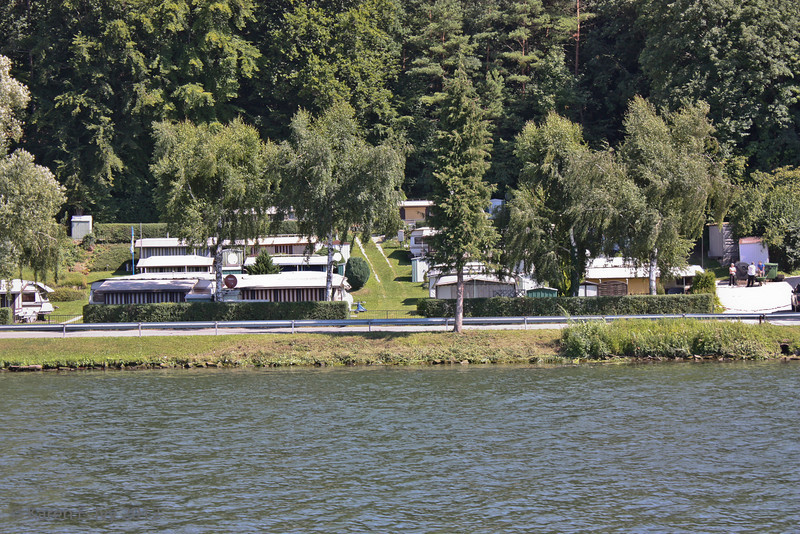 Vacation camp along the Danube; we saw these everywhere.  Camping by the rivers seems to be a favorite German vacation.
