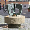Fountain - not everything in Regensburg is old
