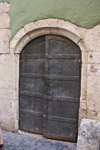 Old door in a wall