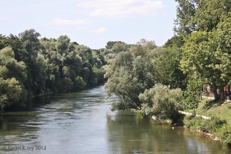 A channel of the Danube, again inside Regensburg