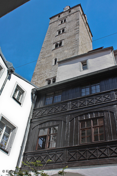 Courtyard and tower of an old merchant building