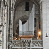 Organ over gothic arch