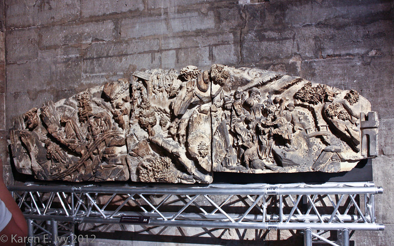 Dom museum:  medieval wall carving