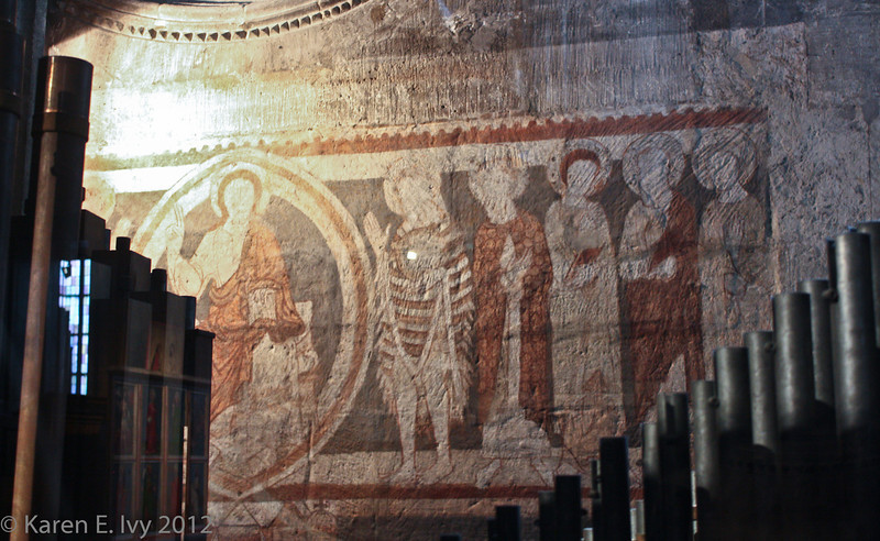 Dom museum:  fresco discovered during renovations; possibly 12th century