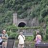 Railway tunnel entrance, through Lorelei Rock