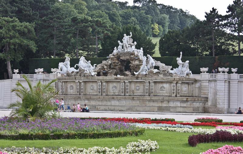 Schönbrunn Palace,  gardens and Neptune Fountain