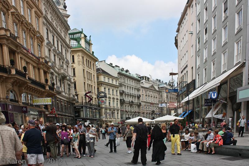 Street in Vienna near St. Stephen's