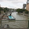 Danube Canal, and old branch of the Danube, with the Badeschiff - yes, that's a floating swimming pool