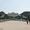 Schönbrunn Palace,  gardens leading up to the Gloriette on the crest of the hill