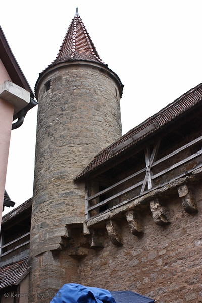 Rothenburg city wall and watchtower