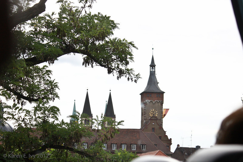 Würzburg church towers