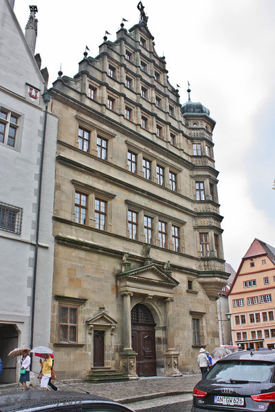 Rothenburg Rathaus. from the Herrngasse