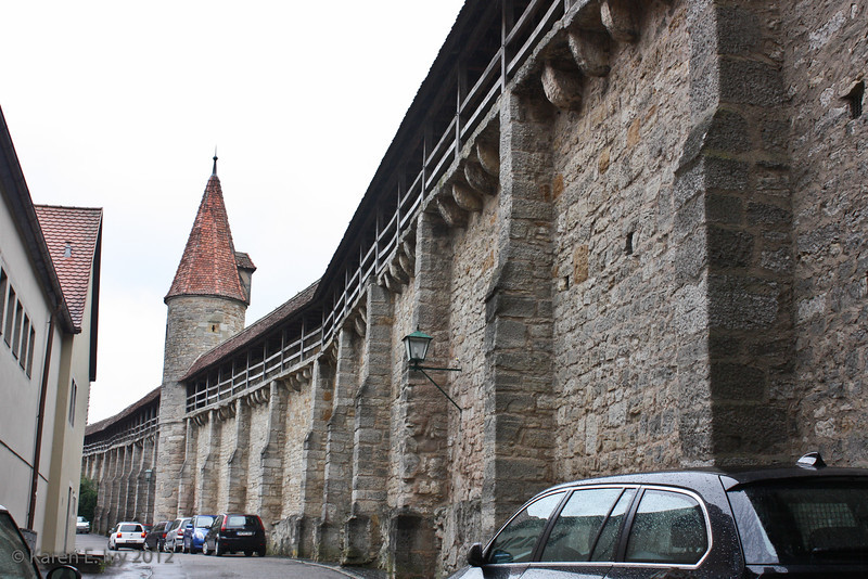 Town wall near the Roeder Tower