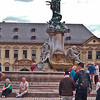 Fountain in courtyard, Prinz-Bishop's Residenz