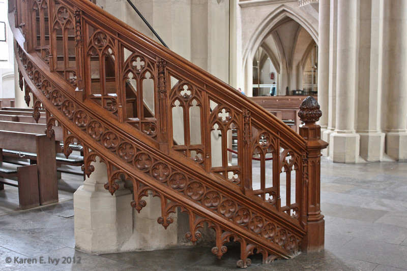 Pulpit staircase, St. Jakob's