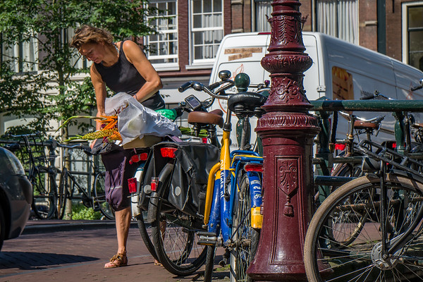 Everyone Uses Bikes in Amsterdam