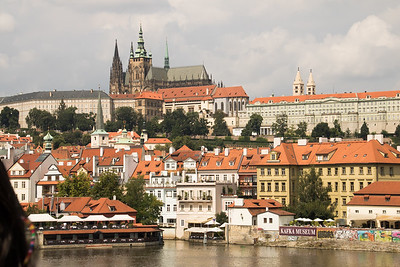 Kafka Museum with the Prague Castle behind it