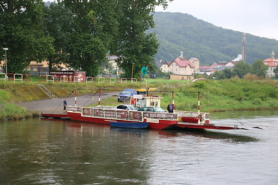 A Charming Ferry on the Elbe River