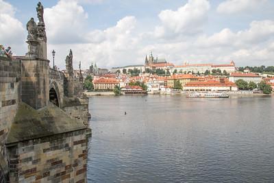 Charles Bridge over the Vltava River - Prague