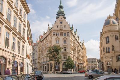 A Street Corner in Prague
