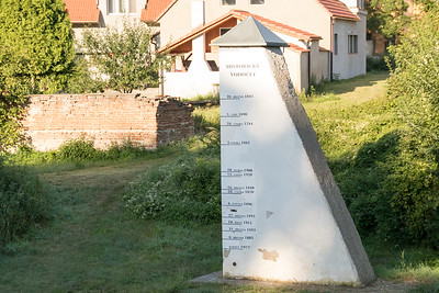 Flood Marker on the Elbe River