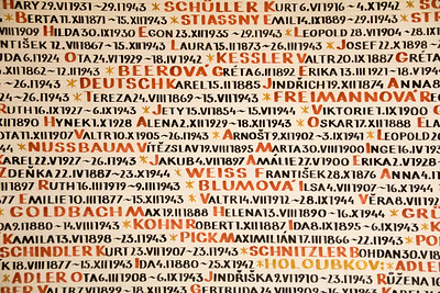 Holocost Memorial Wall  - Prague!