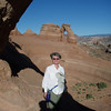 Susan at Delicate Arch.