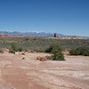 View from highway leading into Moab.
