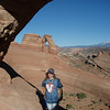Alena at Delicate Arch.