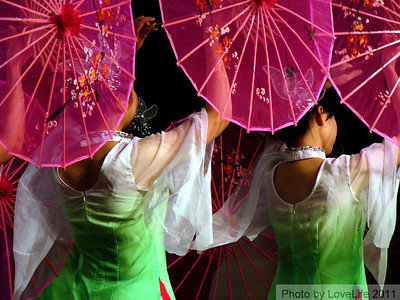 Umbrella Dancers ~ Yangtze River Cruise