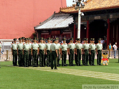 Teda with Forbidden City Solders