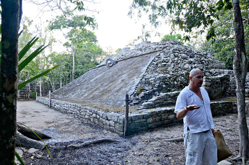 The Great Ball Court of Coba - Nearly all Mayan buildings are positioned according to specific astronomical alignment.  This ball court is oriented such that the open ends are aligned East and West.