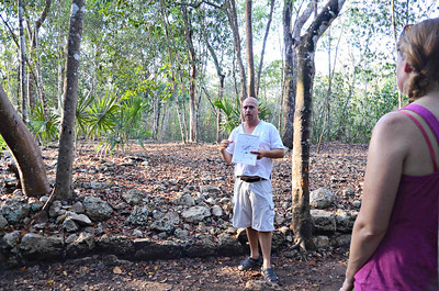 This raised area is another portion of the original Coba sacbe.  Most of the sacbe were raised as high as nine feet above the jungle floor.