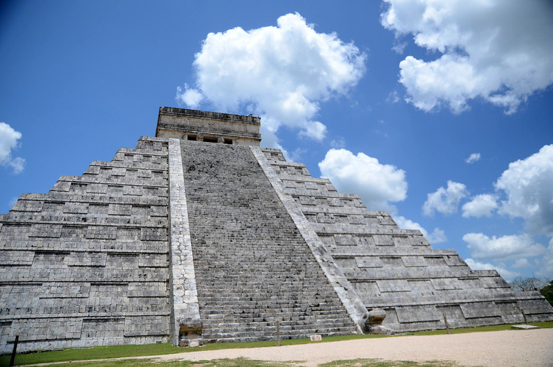 Built near the year 1100 AD, El Castillo served the Mayas of Xichen Itza as a calendar.  With 91 steps per staircase on each of its 4 sides, totaling 364 stairs and the platform on top illustrating the 365th day.