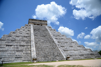 "El Castillo, one of the ""new"" Seven Wonders of the World - Xichen Itza, Yucatan, Mexico"