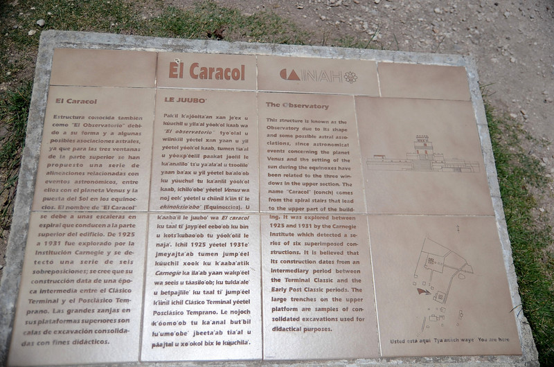 Explanation of El Caracol - Xichen Itza, Yucatan, Mexico
