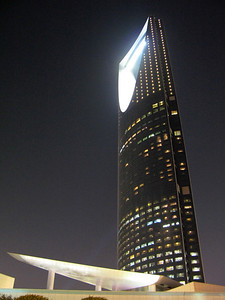 Handheld nightshot of Kingdom Tower, Riyadh ... a very tricky shot taken at a traffic light through my cars sunroof.