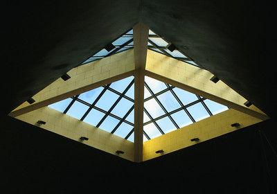 Skylight over 'Dr. Cafe' coffee shop on King Abdallah Road, Riyadh.