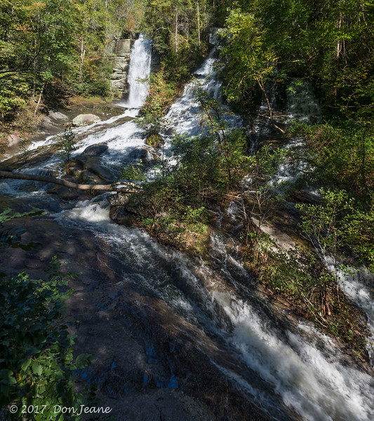 Twin Falls - also known as Reedy Cove Falls or Rock Falls. 10/24/2017. This is a 2 image vertical panorama - my 24mm just not wide enough.