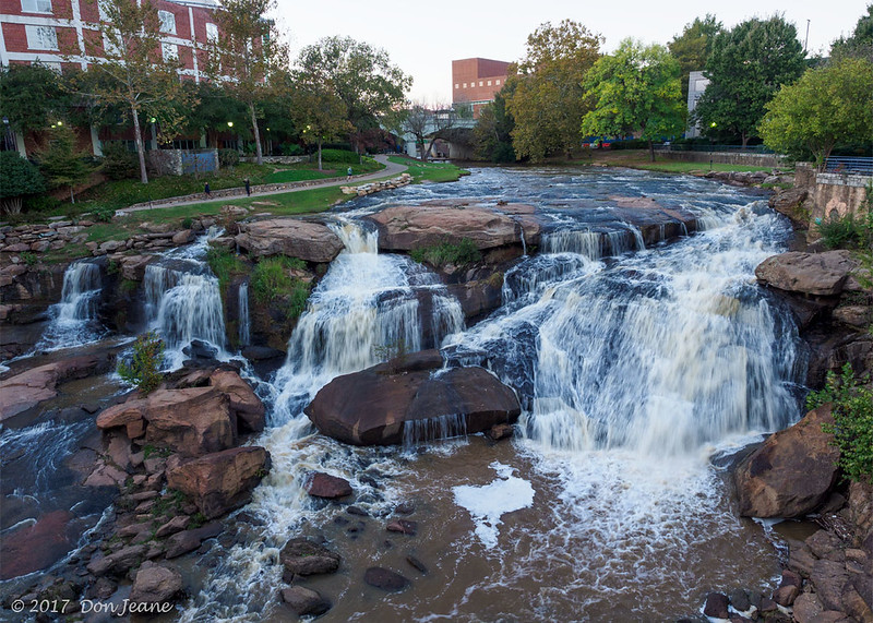 Falls Park on the Reedy River in the historic West End District of Greenville, SC. 10/24/2017. Easy to see why Greenville is commonly listed as one of the best places to live in the US.