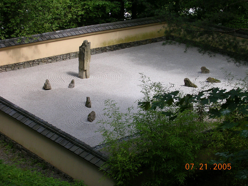 <h2>Zen</h2> They did have a lifesized Zen Garden but some people needed it more than others.