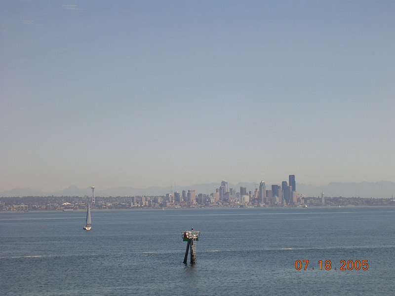 <h2>I 'heart' Ferryboats</h2> This is the skyline view from a beloved FerryBoat.