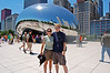 Michelle and Rod in front of The Bean in Chicago's Millennium Park.