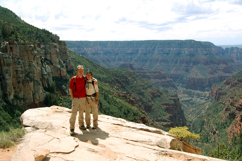 Michelle and Rod at the Grand Canyon.