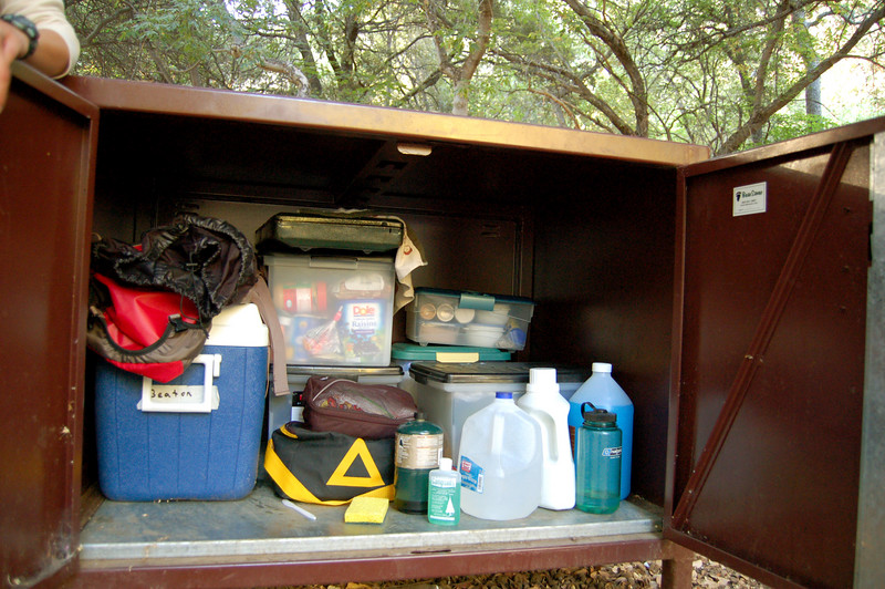 Bear box with all of our gear, Sequoia National Park, CA.