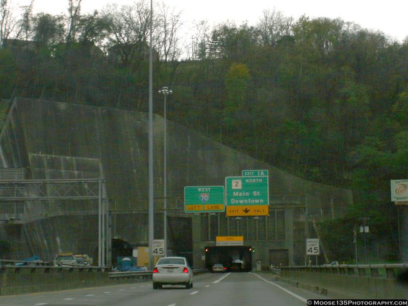 Approaching Wheeling, West Virginia.
