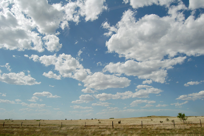 Big sky in Texas.  Not much else there...