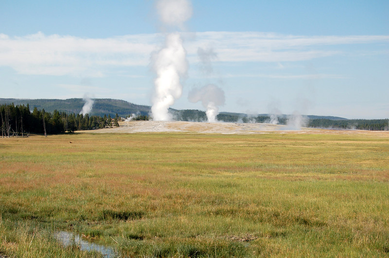 Geysers in Yellowstone National Park, WY.