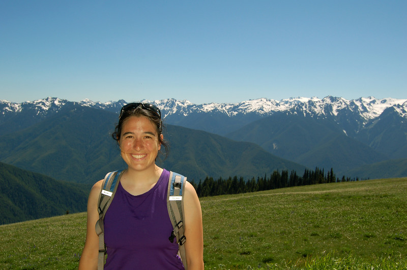 Michelle and the mountains, Olympic National Park, WA.