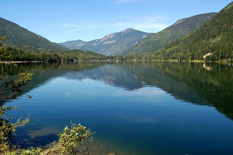 A lake in British Columbia, Canada.